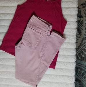 Flying Monkey pale pink colored Jean's. Size 27